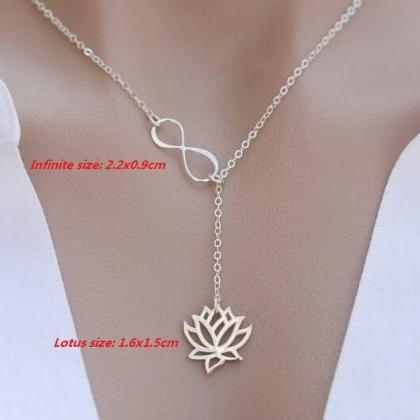 Lotus Infinity Necklace