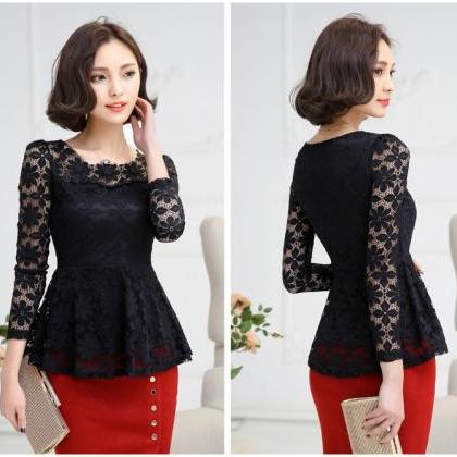 Beautiful Long Sleeve Blouse in Bla..