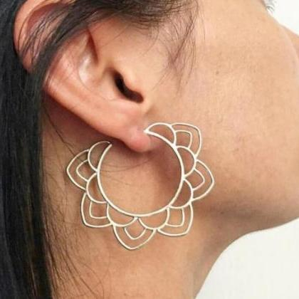 Ethnic Tribal Gold and Silver Earri..