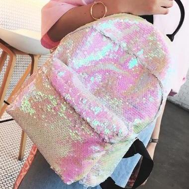Preppy Style Sequin Backpack School..