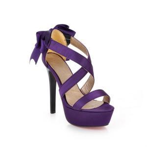Purple Strappy Heels | Tsaa Heel