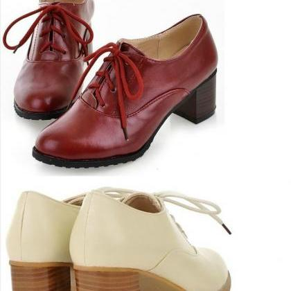 Classy Oxford Shoes in 4 Colors