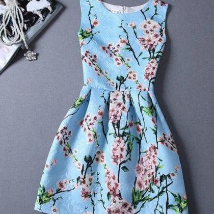 Elegant Cherry Blossoms Dress