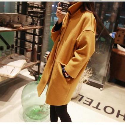 Autumn and Winter Woolen Coat for W..