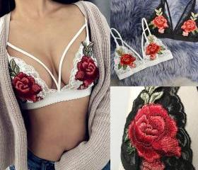 Sexy Floral Embroide..