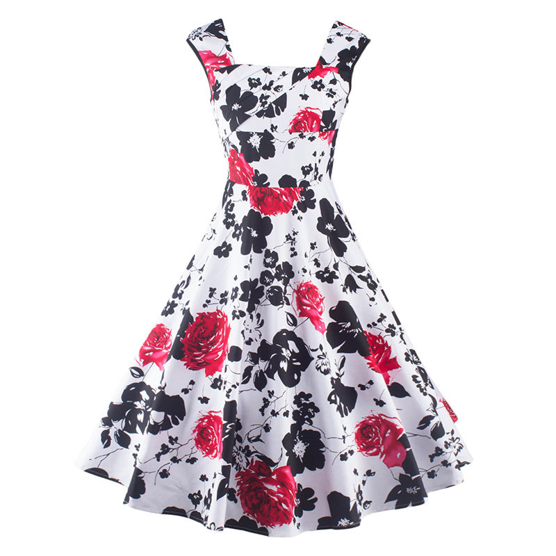 Elegant Vintage Retro Party Dress
