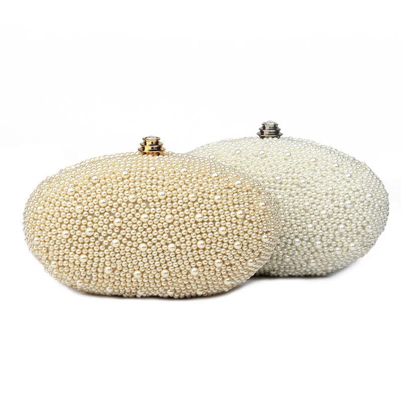 Beautiful Pearl beaded Clutch Bag