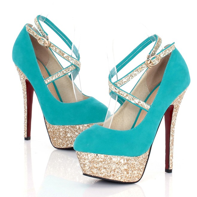 turquoise strappy high heel fashion shoes on luulla