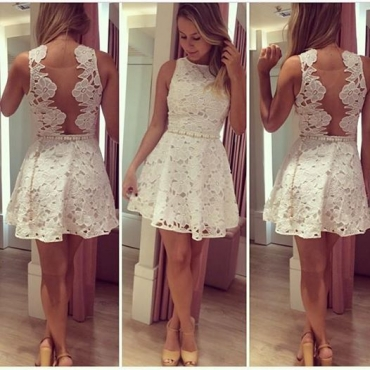 Gorgeous White Lace Mini Dress