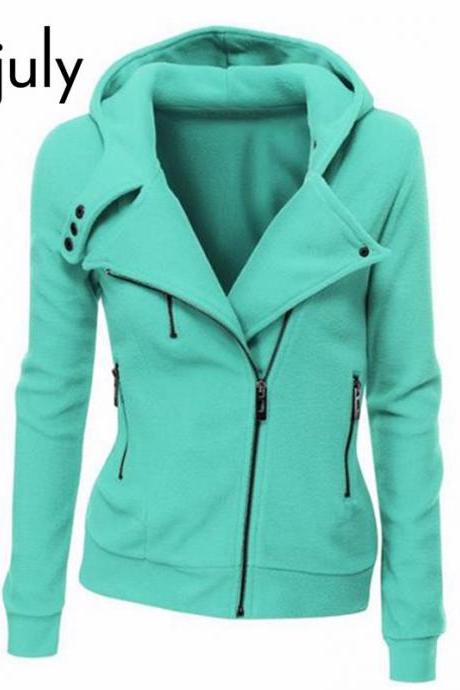 Long Sleeve Zip up Jacket Hoodie