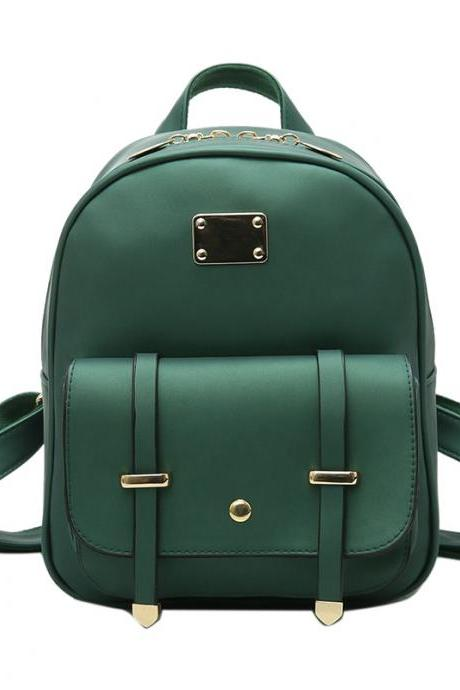 Retro Vintage PU Leather Backpacks for Women