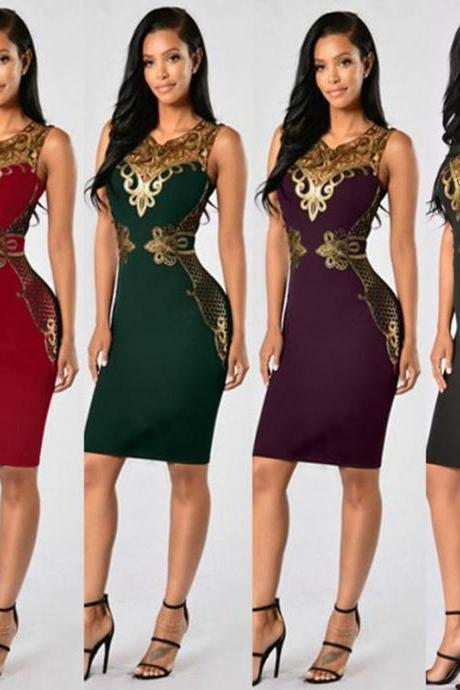 Sleeveless Gorgeous Bodycon Party Midi Dresses