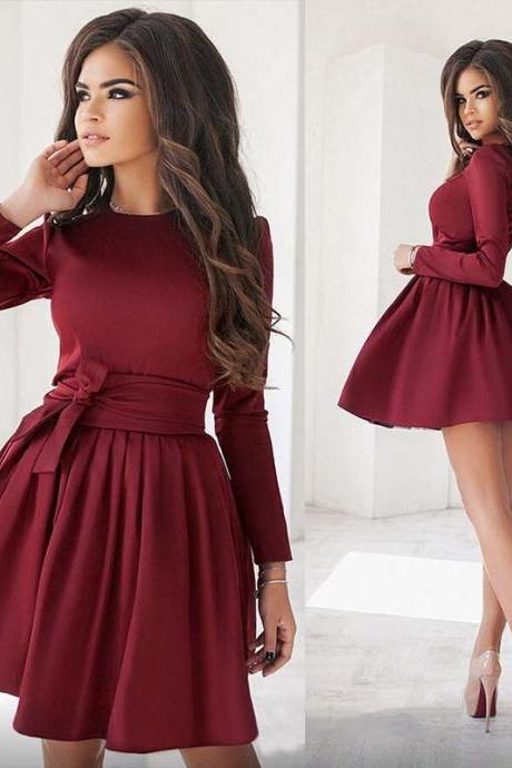Empire Waist Long Sleeve Dress