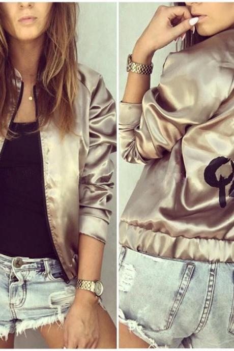 Spring and Autumn Printed Bomber Jacket