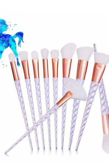 Beautiful Unicorn Professional Makeup Brushes