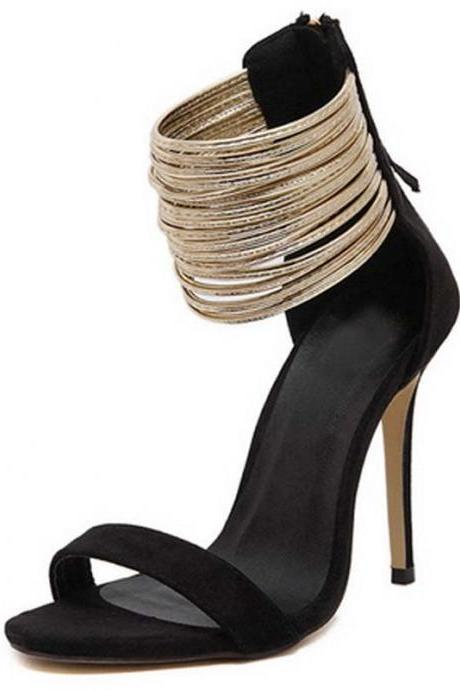 Classy Thin High Heels Ankle Strap Fashion Sandals
