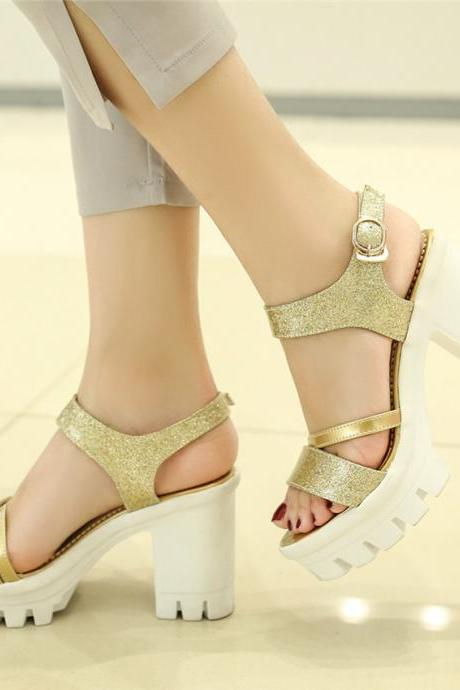 Peep Toe Gladiator High Heels Fashion Sandals