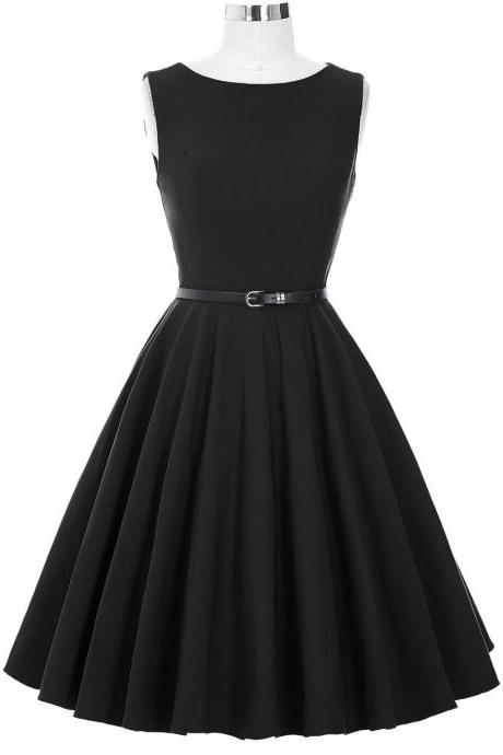 Sleeveless Black Vintage design Party Dress
