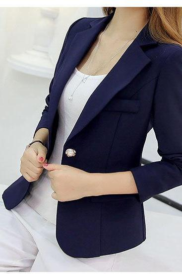 Navy Blue Blazer Jacket