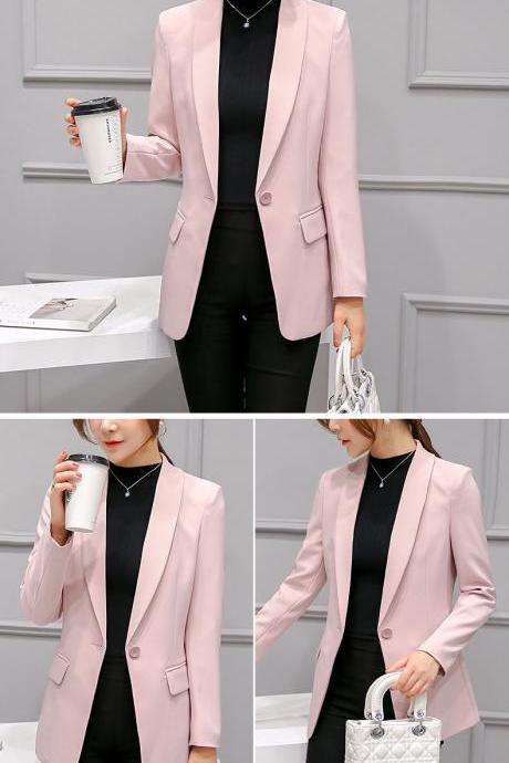 Chic Pink Blazer Coat