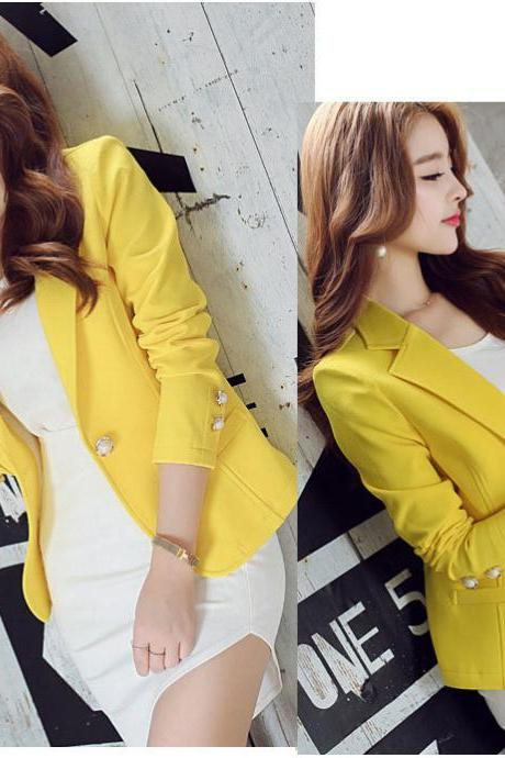 Yellow Blazer and Jacket for Women