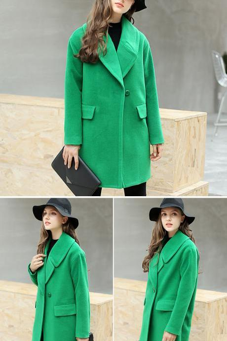 Chic Green Trench Coat
