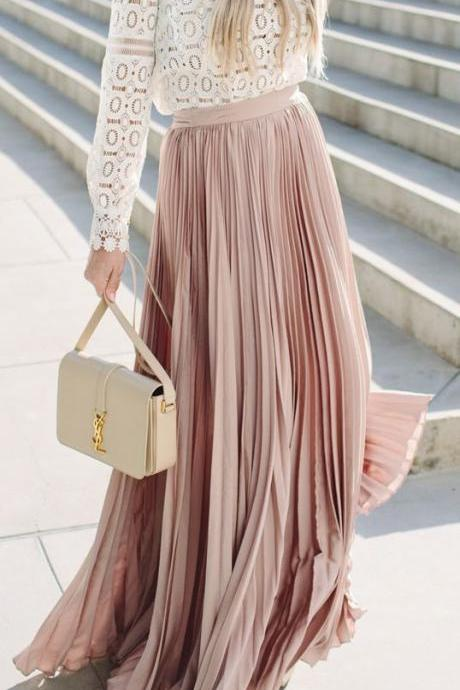Gorgeous Pleated Maxi Skirts