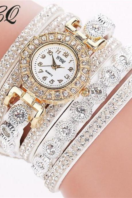 Chic Crystal Bracelet Bangle Watch