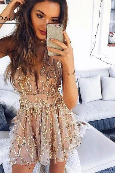 Sexy Sequined Romper Jumpsuit