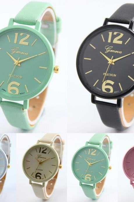 Leather Casual Ladies Fashion Watches