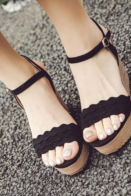 Classy Wedge Summer Sandals