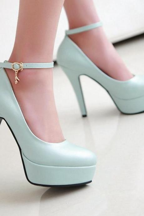 Elegant Pointed Toe Ankle Strap High heels Fashion Shoes