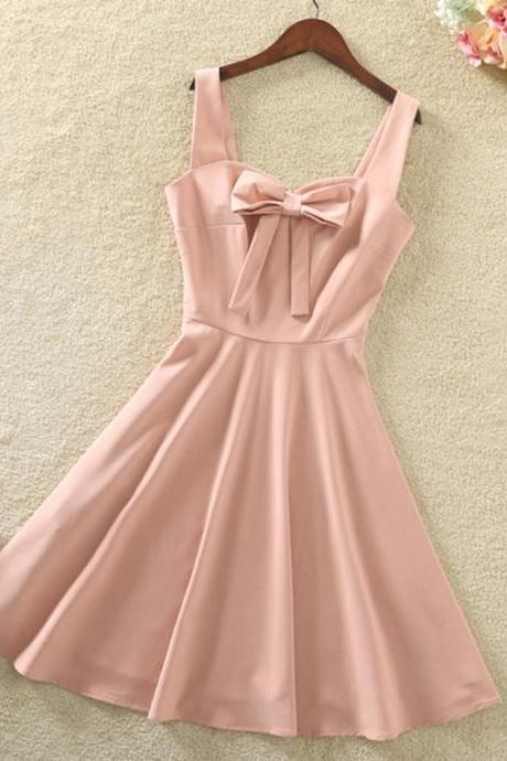Elegant Bow Sleeveless Party Dress