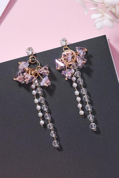 Gorgeous Crystal Tassel Earrings