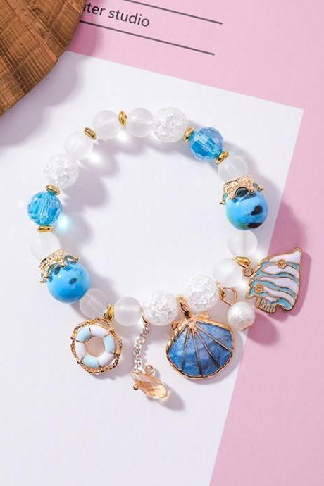Mermaid Sea Beach Charmed Bracelet