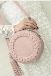 Round Tassel Women's Handbag Shoulder Bag