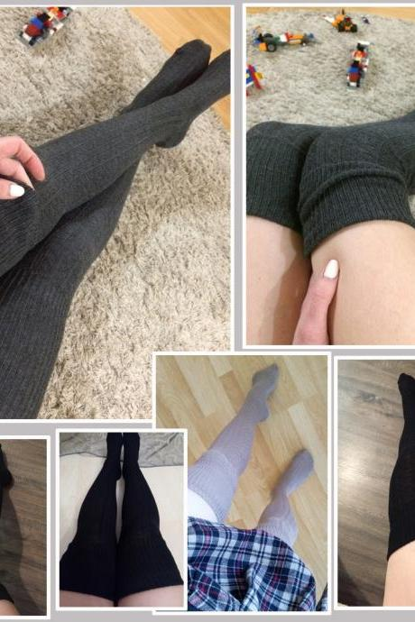 Cotton Thigh High Over the Knee Comfy Socks