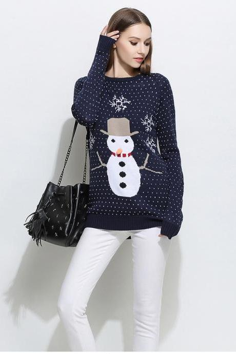 Women's Snowman Christmas Sweater