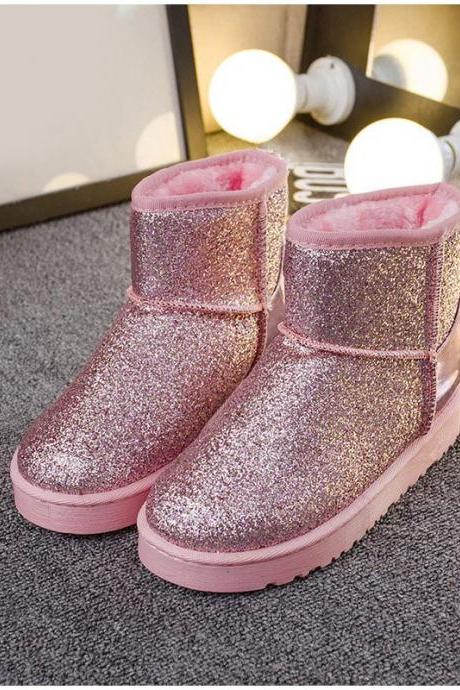 Beautiful Bling warm Winter Ankle Boots
