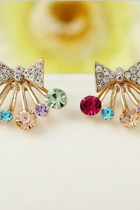 Colorful Bow Earrings