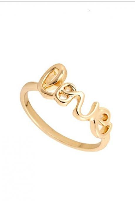Cute Love Letters Rings