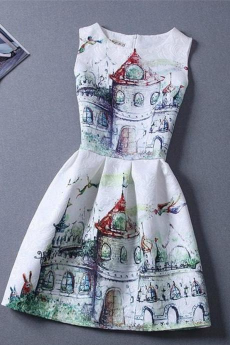 Fantasy Inspired Sleeveless Dress