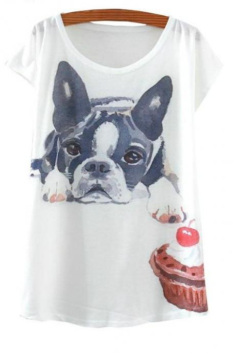 Cute Puppy and Cup cake T shirt