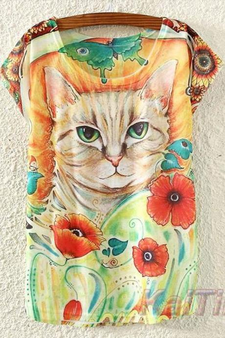 Cute Cat T shirt