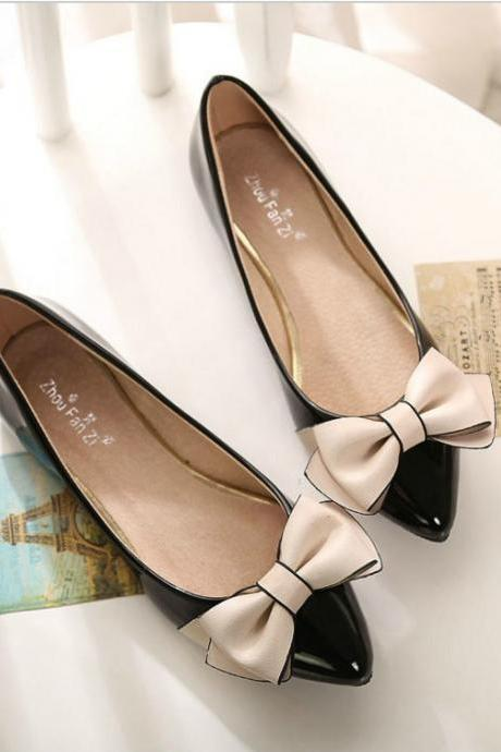 Cute Ballet Shoes with Bow