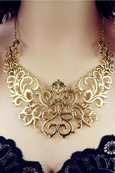 Classy Gold Statement Necklace