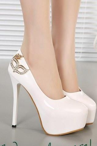 Beautiful Round Toe High Heels