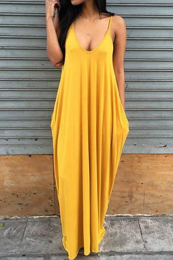 Bohemian Yellow Maxi Dress