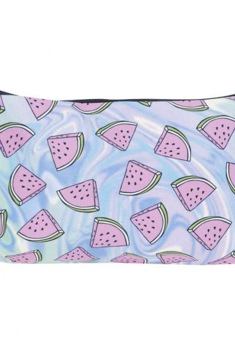 Summer Fruit Print Cosmetic Bag