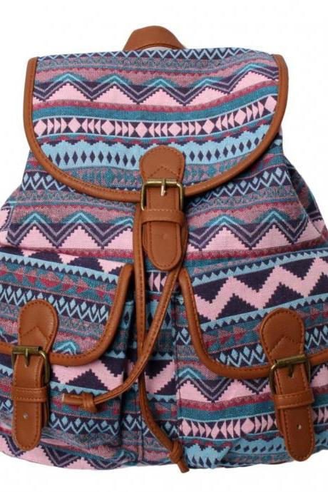 Retro Aztec Design Backpacks